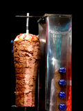 Doner Kebab. Authentic Turkish doner kebab and grill royalty free stock image