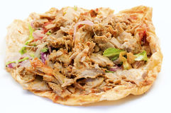 Doner kebab. On a white background Royalty Free Stock Images