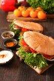 Doner kebab - falafel fresh vegetables in pita Brad Royalty Free Stock Photos