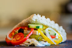 Doner Kebab. Filled with vegetables Stock Photos