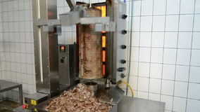 Doner Kebab Grill Machine. In action stock video