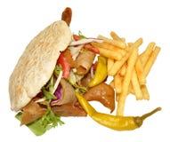 Doner Kebab I dłoniaki obraz stock