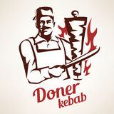 Doner kebab illustration Stock Images