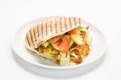 Doner kebab. Isolated on white background stock photo