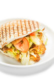 Doner kebab. Isolated on white background stock photos