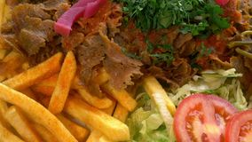 Doner kebab meat with stock video