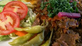 Doner kebab meat with stock video footage