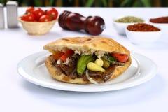 Doner Kebab Meat Sandwich royalty free stock photo