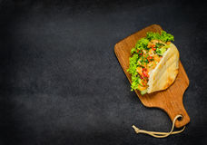 Doner-Kebab mit Kopien-Raum Stockbild