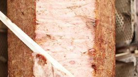 Doner kebab, the most popular food in Turkey. Doner kebab, popular food in Turkey stock footage