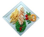 Doner kebab op een plaat Stock Foto