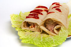 Doner kebab on a plate Stock Image