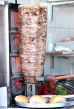 Doner Kebab with Red Meat Royalty Free Stock Image