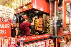 Doner Kebab szef kuchni W Yalova mieście kraj Turcja Obraz Stock