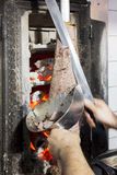 Doner kebab from Turkish cuisine in Istanbul, Turkey.  Royalty Free Stock Images
