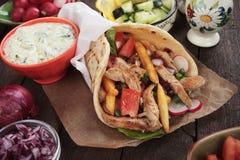 Doner kebab, turkish pita bread sandwich Royalty Free Stock Image