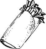 Doner kebab. Vector illustration Stock Photo