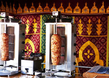Doner kebap being grilled in a fair Royalty Free Stock Photo