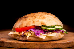 Doner Kebap. In bread very tasty Royalty Free Stock Images