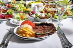 Doner kebap, gekookt vlees Royalty-vrije Stock Foto