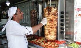Doner kebap in Istanboel Turkije Stock Fotografie