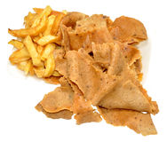 Doner Meat And Chips Royalty Free Stock Photography