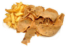 Doner Meat And Chips Stock Photo