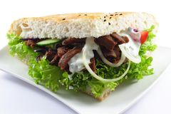Doner with pitta bread Royalty Free Stock Image