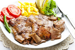 Doner turco Kebab immagini stock libere da diritti