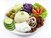 Doner with vegetables Stock Photos