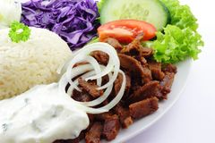 Doner with vegetables Royalty Free Stock Photos