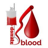Donera blod royaltyfri illustrationer