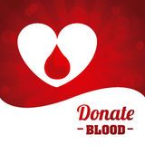 Donera bloddesignen royaltyfri illustrationer