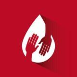 Donera bloddesignen vektor illustrationer
