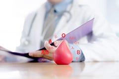 Donera/blodgruppen/doktor/begrepp arkivfoton