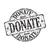 donera den rubber stämpeln för grunge Royaltyfri Fotografi