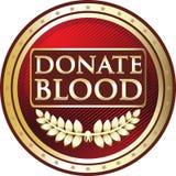 Donera för tappningrundan för blod den röda symbolen för etiketten Vektor Illustrationer