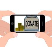 Donera Fundraising välgörenhet och bidrag för krusskärmar vektor illustrationer