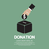 Donera pengar till välgörenhetbegreppet Fotografering för Bildbyråer