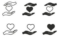 Donera symbolsuppsättningen royaltyfri illustrationer