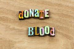 Donera vård- sund vänlighet för livbesparingblodbanken arkivbild