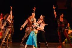 DONETSK - 17. MÄRZ: Ballett Lecorsaire Stockbilder