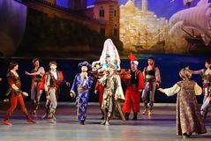 DONETSK - 17 MARZO: Balletto del Le Corsaire Immagine Stock Libera da Diritti