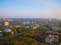 Donetsk da un'altezza Fotografie Stock Libere da Diritti
