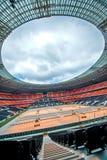 Het Stadion van de Arena van Donbass in Donetsk, de Oekraïne. Stock Afbeeldingen