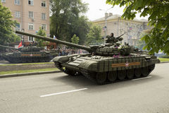 Donetsk, Donetsk People Republic, Ukraine – 2016, May 9: Tanks on Victory Parade. Donestk, Donetsk People Republic, Ukraine – 2016, May 9: Armored royalty free stock images