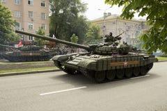 Donetsk, Donetsk People Republic, Ukraine – 2016, May 9: Tanks on Victory Parade. Royalty Free Stock Images