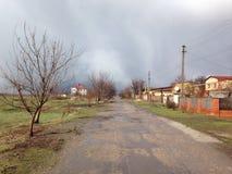 Donetsk en mai 2015 Beau jour en quelques jours de guerre image libre de droits