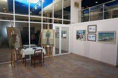 DONETSK - FEBRUARI 16: Het openen van de tentoonstelling Royalty-vrije Stock Fotografie