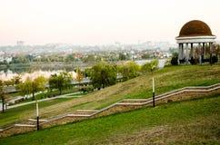 Donetsk krajobraz cityscape Rzeka i park obrazy royalty free
